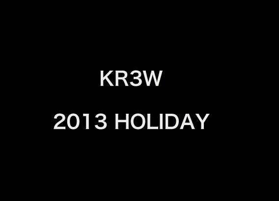 KR3W 2013 HOLIDAYアイテム入荷しました!