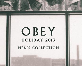 OBEY 2013 ホリデーシーズンFRAGILEにて明日発売開始します!