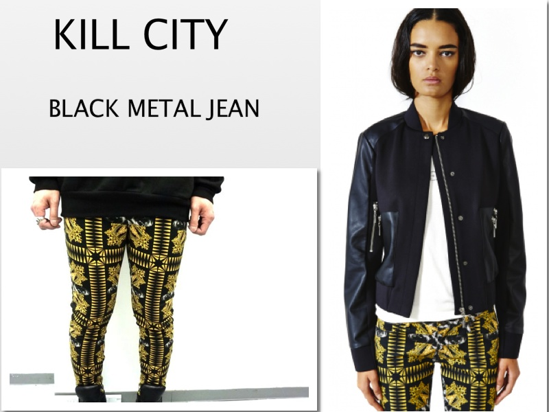 KILL CITY BLACK – METAL JUNKIE TWILL JEANS