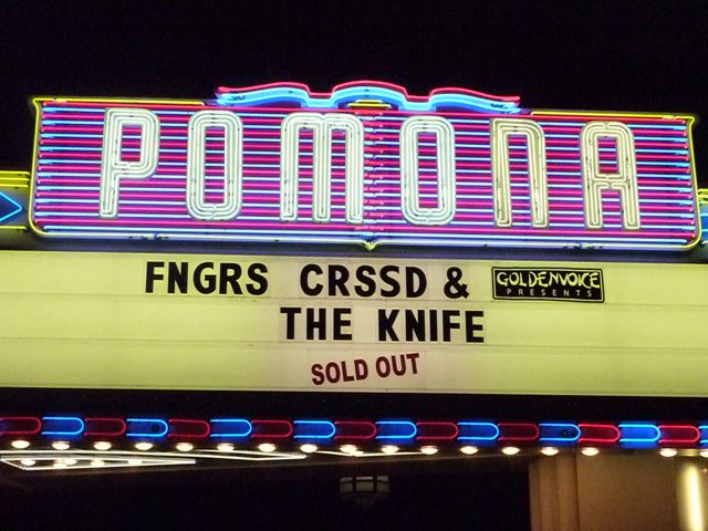 THE KNIFE @ FOX THEATER POMONA