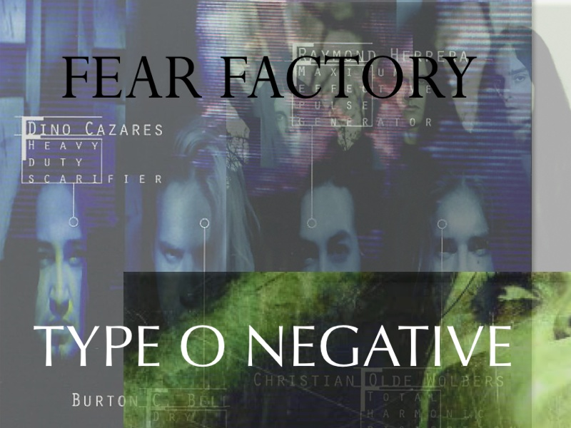 TYPE O NEGATIVE FEAR FACTORY オフィシャルTEE