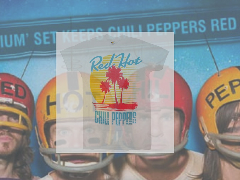 RED HOT CHILI PEPPERS – BEACH T-SHIRTS