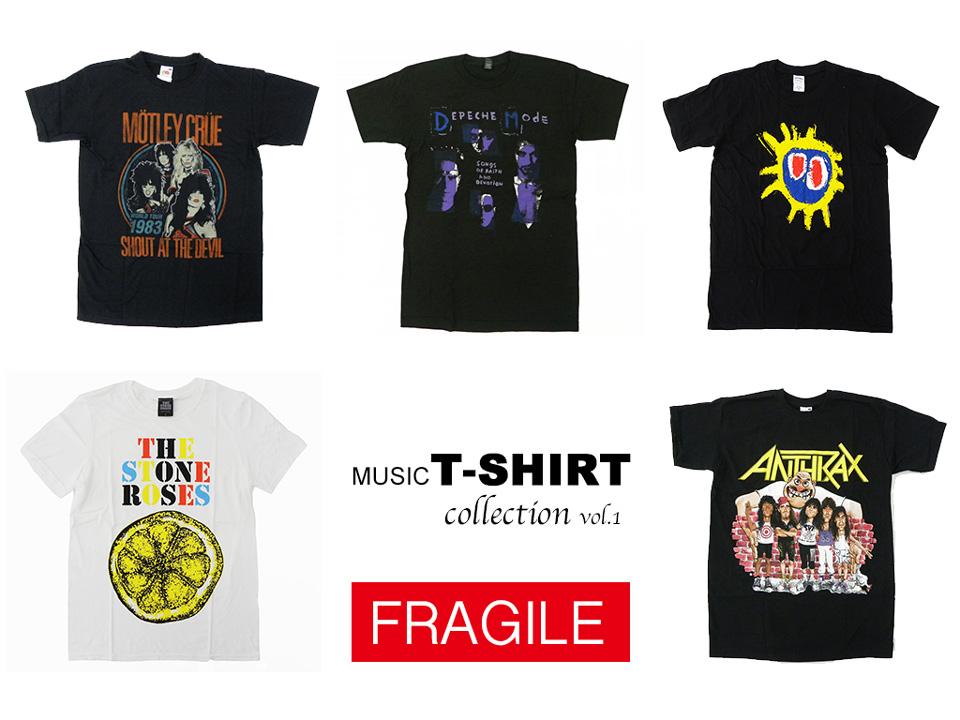 FRAGILE バンドTシャツ コレクション vol.1
