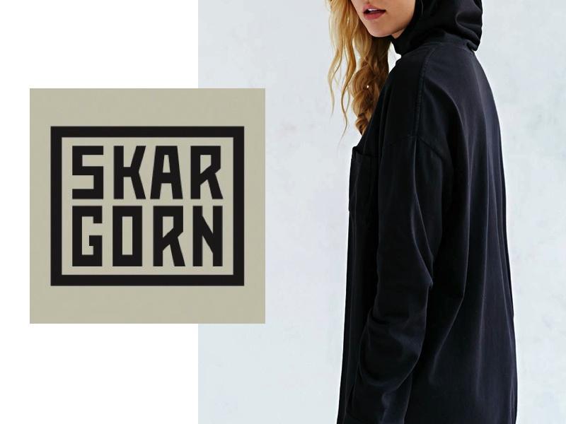 SKARGORN – BLACK WASH HOODIE