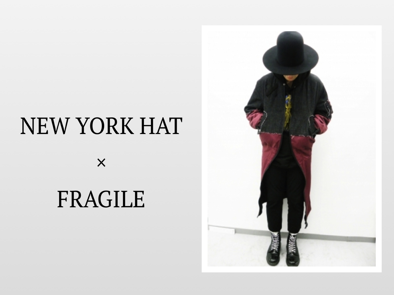 NEW YORK HAT × FRAGILE COLLABORATION HAT