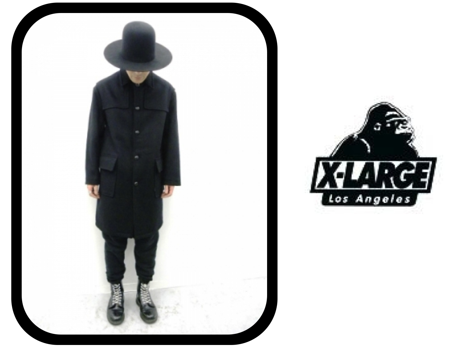 X-LARGE 90'S WOOL OVERCOAT