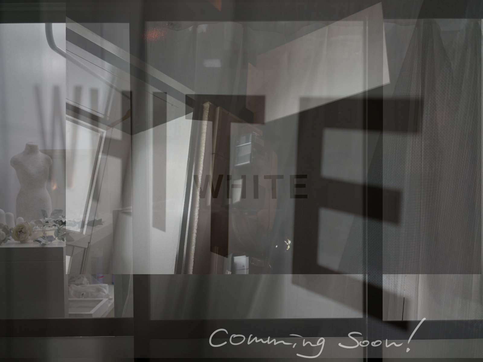 WE WILL OPEN FRAGILE WHITE CONCEPT STORE