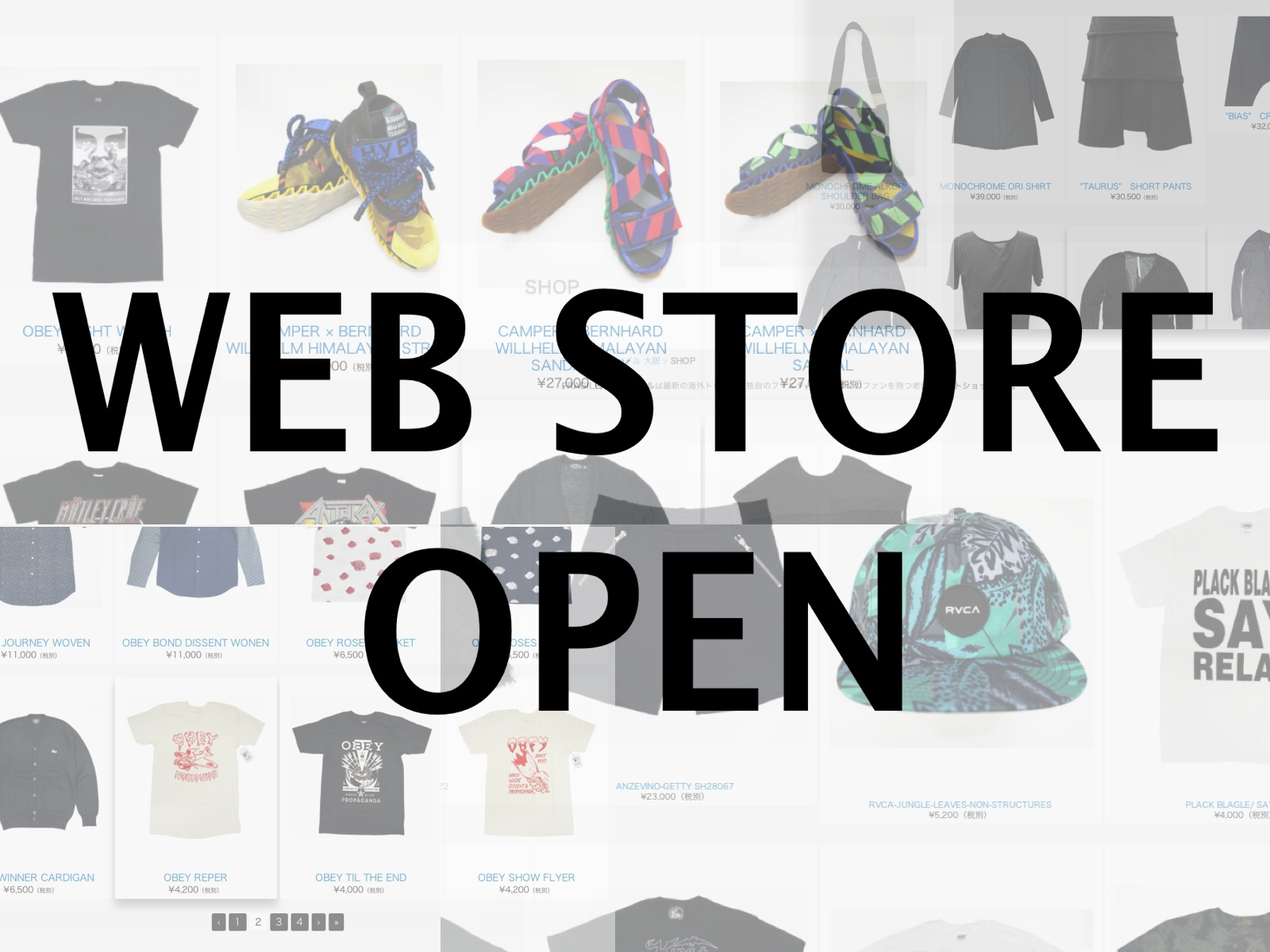 FRAGILE WEB STORE OPEN