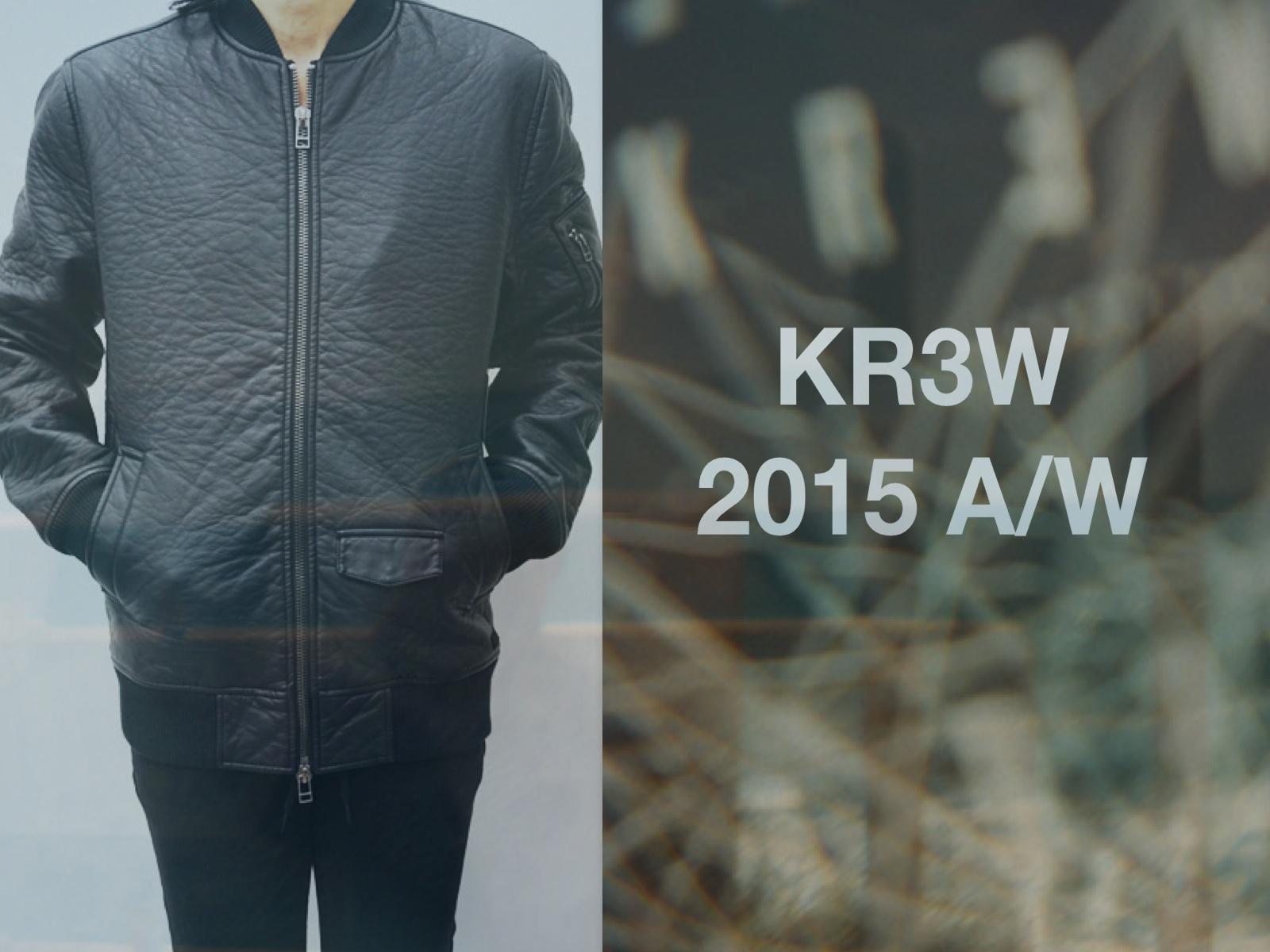 KR3W AW15入荷しました