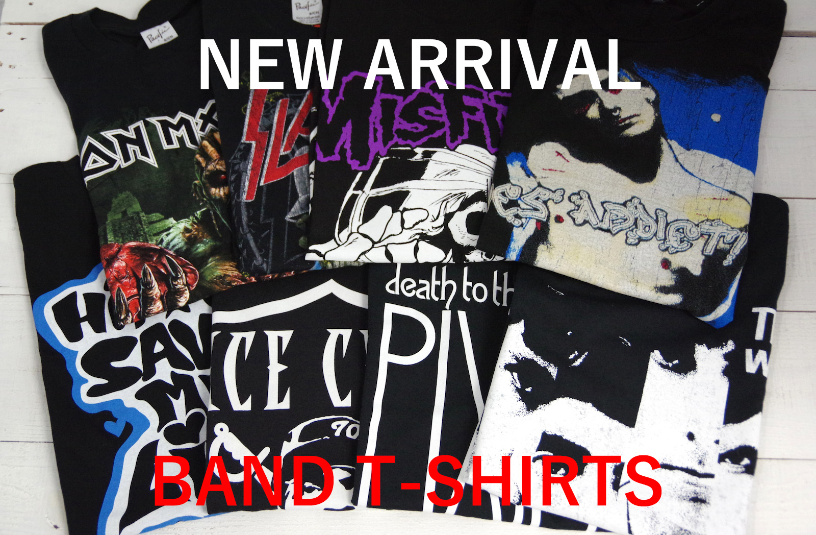 NEW ARRIVAL BAND T-SHIRTS 2016 SPRING