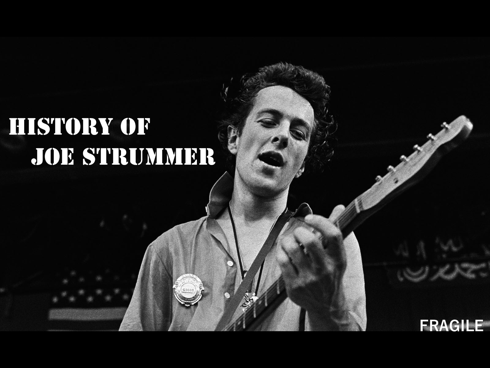 HISTORY OF JOE STRUMMER – part 1