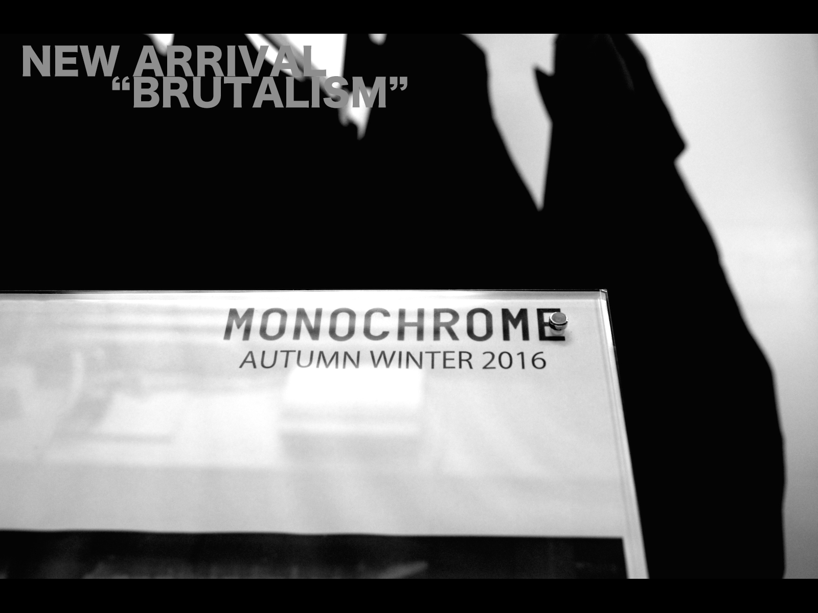 NEW ARRIVAL – MONOCHROME AUTUMN/WINTER 2016