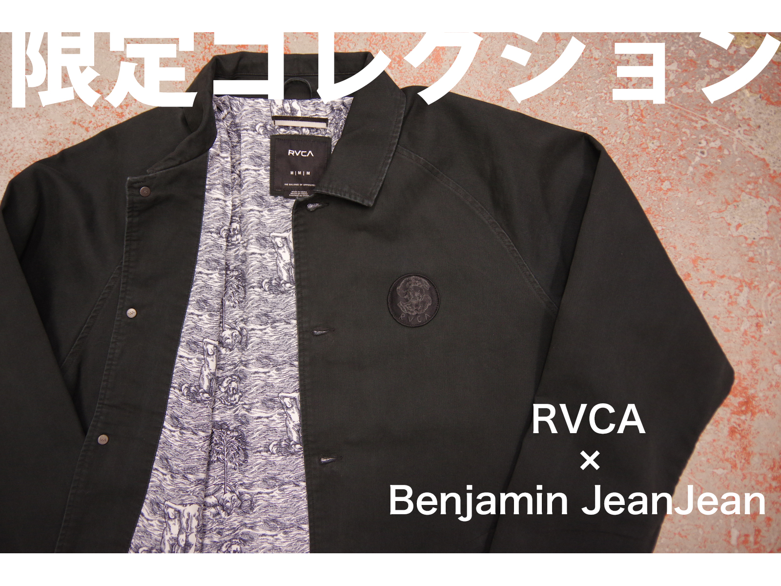 NEW ARRIVALS – RVCA × Benjamin JeanJean