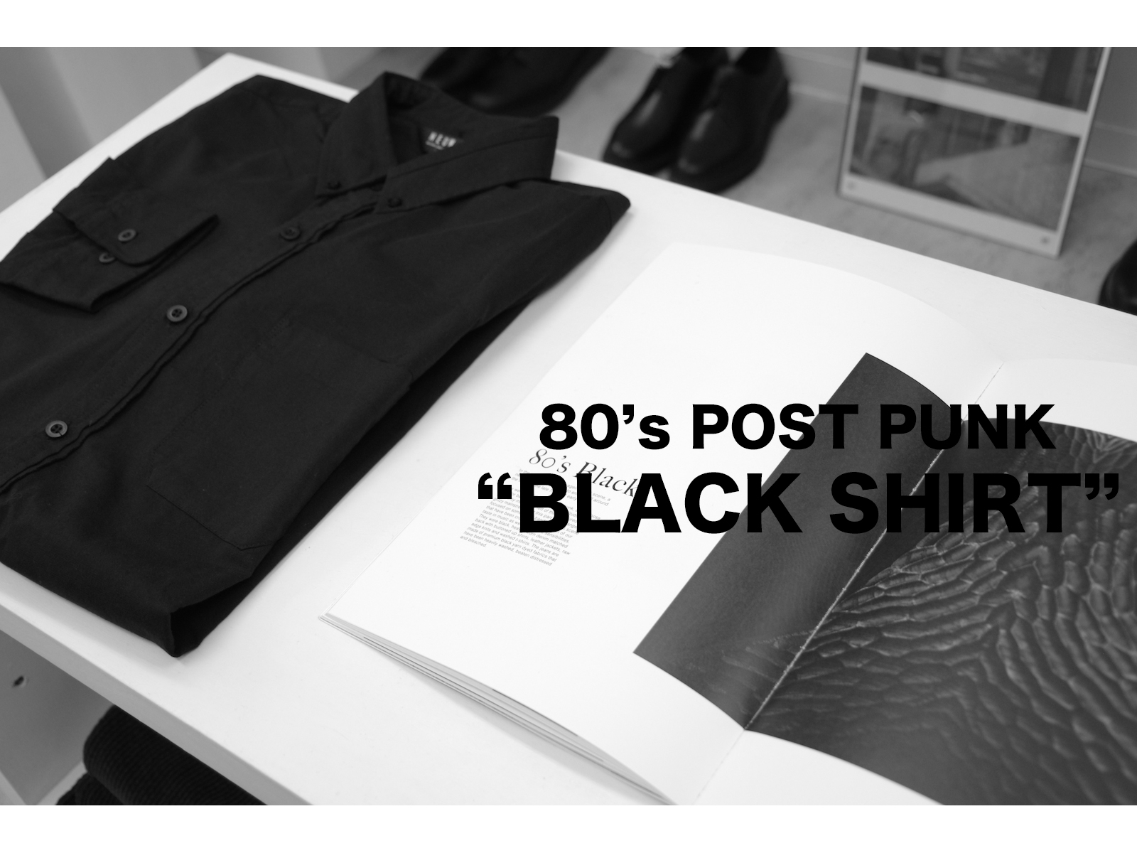 NEUW DENIM – 80's POST PUNK BLACK SHIRT