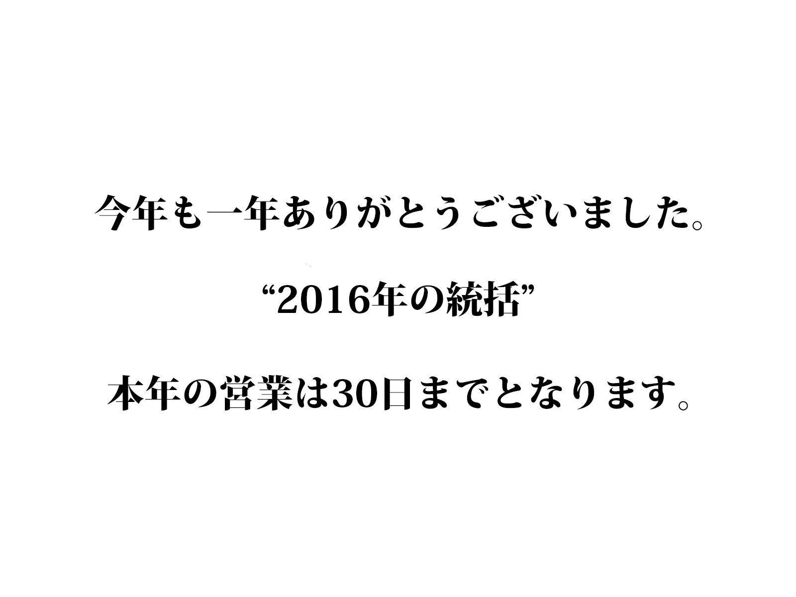2016年の統括