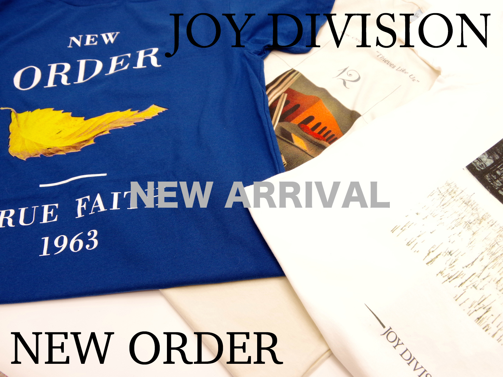 JOY DIVISION NEW ORDER / NEW T-SHIRTS