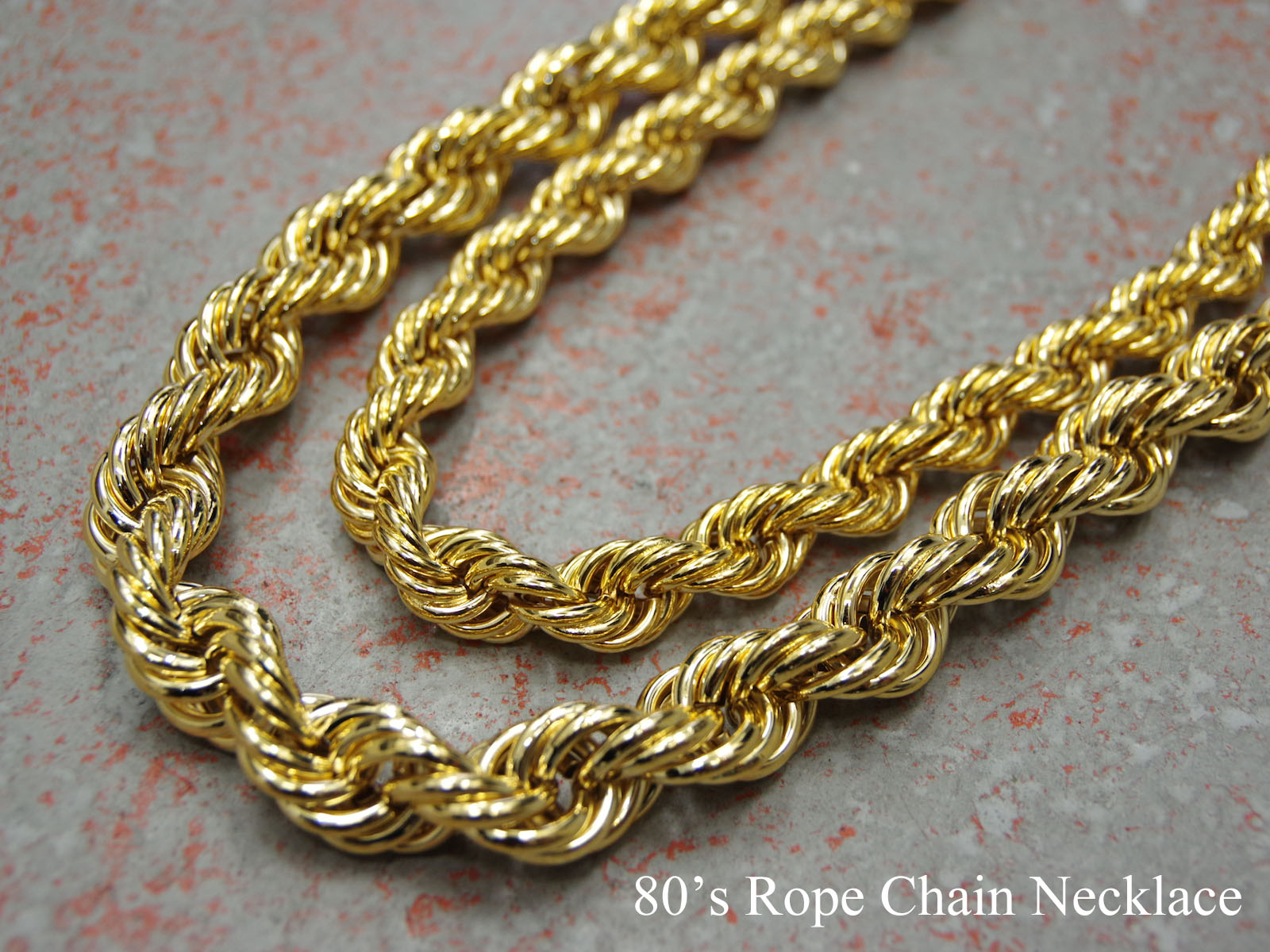 80's Rope Chain Necklace / ロープ・チェーン・ネックレス