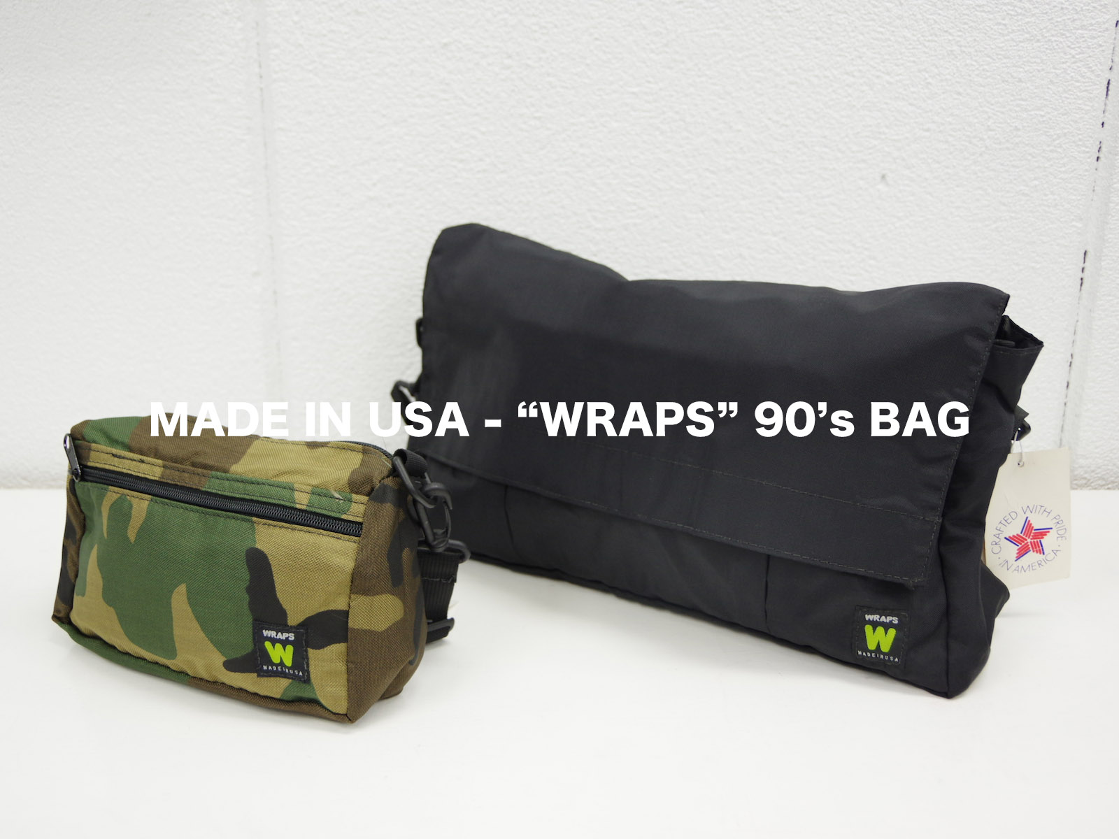 MADE IN USA – WRAPS 90's BAG