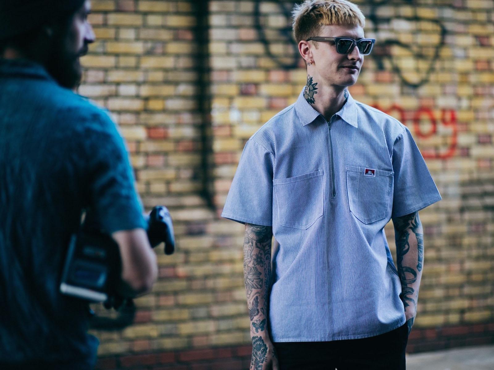 クローズアップ : BEN DAVIS ハーフジップシャツ