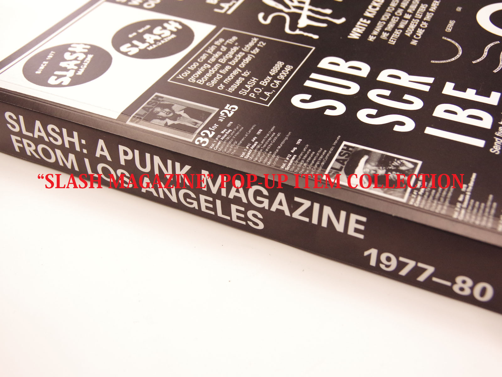 SLASH MAGAZINE POP-UP ITEM COLLECTION