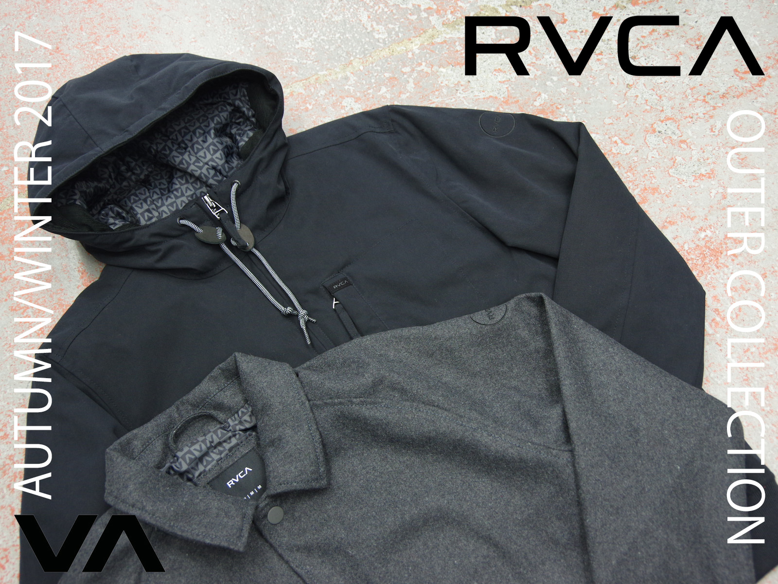 NEW ARRIVALS – RVCA AUTUMN/WINTER 2017 OUTER COLLECTION