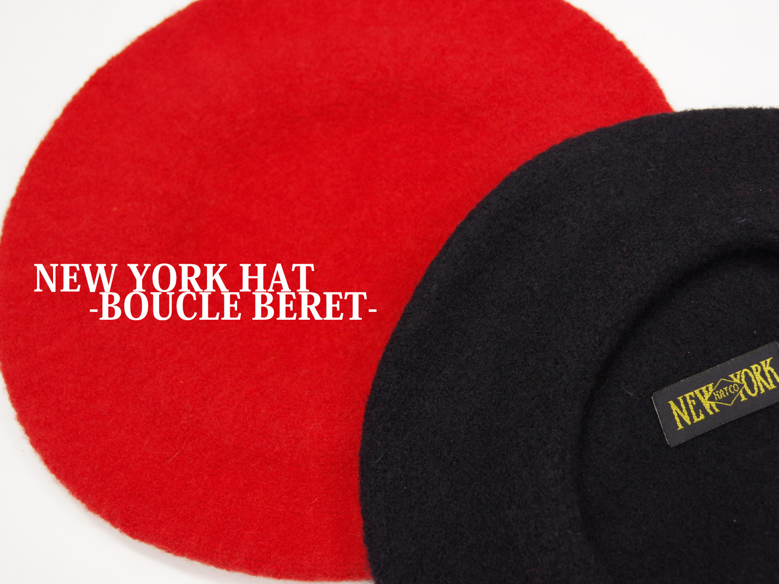 NEW ARRIVALS – NEW YORK HAT / BOUCLE BERET