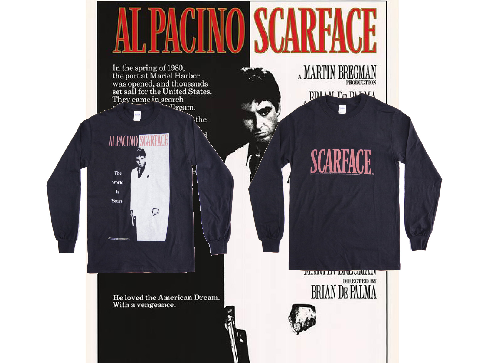 SCARFACE スカーフェイス – Official Movie L/S T-shirts
