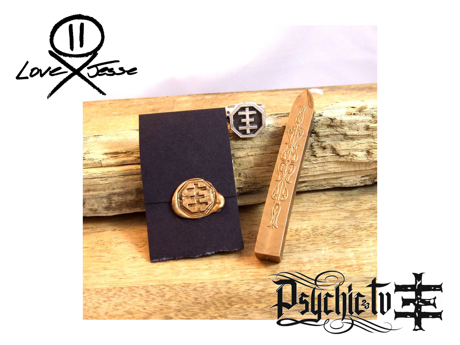 LOVE JESSE DESIGNS – Psychic Cross Signet Ring