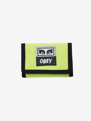 OBEY_Drop_Out_Tri_Fold_Wallet_Safety_Green_100310099_GRN_1_2000x