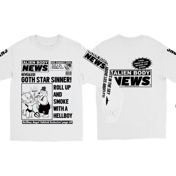 LIL PEEP × ALIEN BODY の限定コラボTシャツを本日より店頭にてゲリラリリース